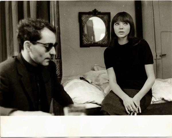 Jean-Luc Godard et Anna Karina par Giancarlo Botti - Un tirage argentique vintage proposé par Photo Memory.