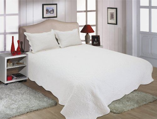 All for You 2pc Reversible Quilt Set, Bedspread, and Coverlet-68″x 86″-white (twin) - http://aluxurybed.com/product/all-for-you-2pc-reversible-quilt-set-bedspread-and-coverlet-68x-86-white-twin/