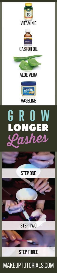 How To Grow Longer Lashes | Easy Step By Step Instructions For Making Your Eyelashes Longer By Makeup Tutorials. http://makeuptutorials.com/makeup-tutorials-how-to-grow-longer-lashes/