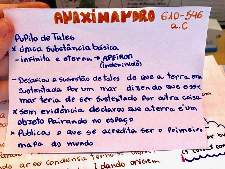 Pré-Socráticos resumo Anaximandro