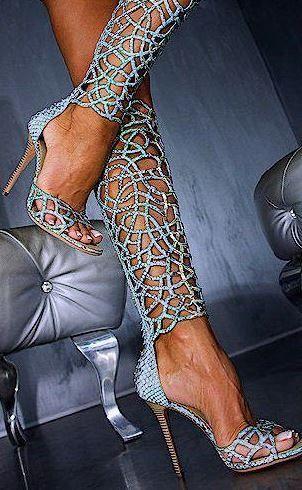 ~ ♥ Stilettos~Pumps~Heels ♥ ~ Sparkle Lace Heels