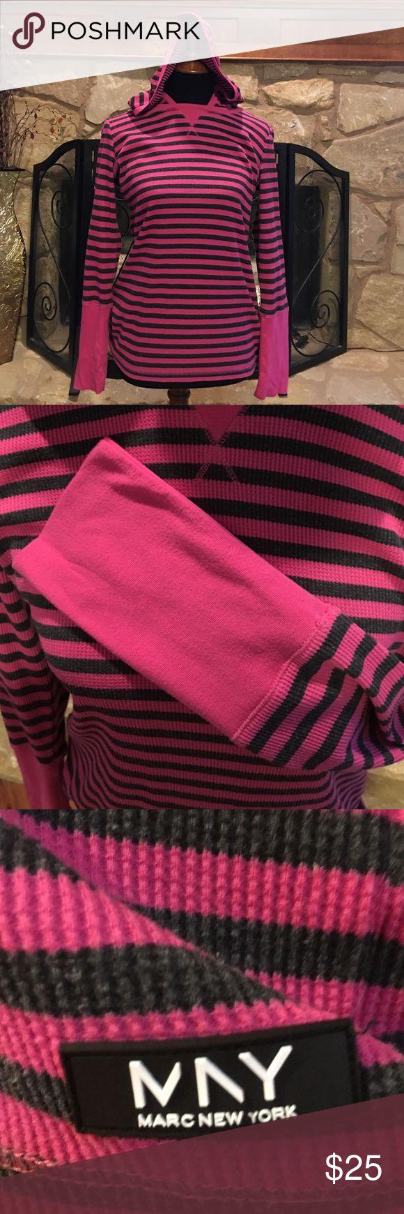 """Marc New York Andrew Marc"" Pink & Grey Hooded Top ""Marc New York Andrew Marc"" Pink & Grey Hooded Top ""Marc New York Andrew Marc"" Pink & Grey Hooded Top Tops Sweatshirts & Hoodies"