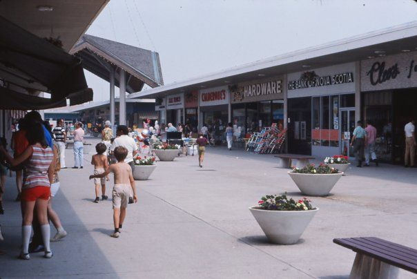 Bayview Village when it was an outdoor Mall. 1973