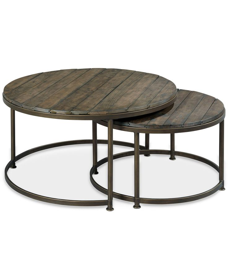 link wood set of 2 round nesting coffee tables - Macys Coffee Table