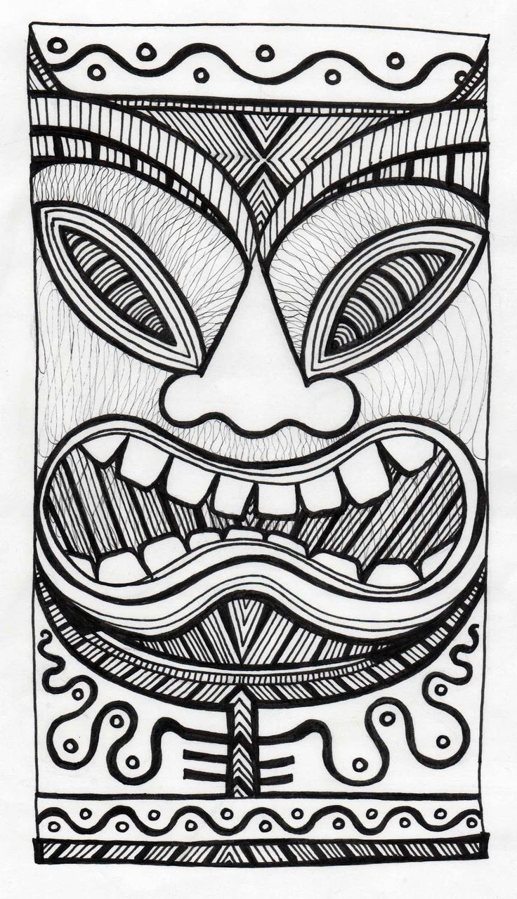 Stitchlily How to draw a Tiki Head