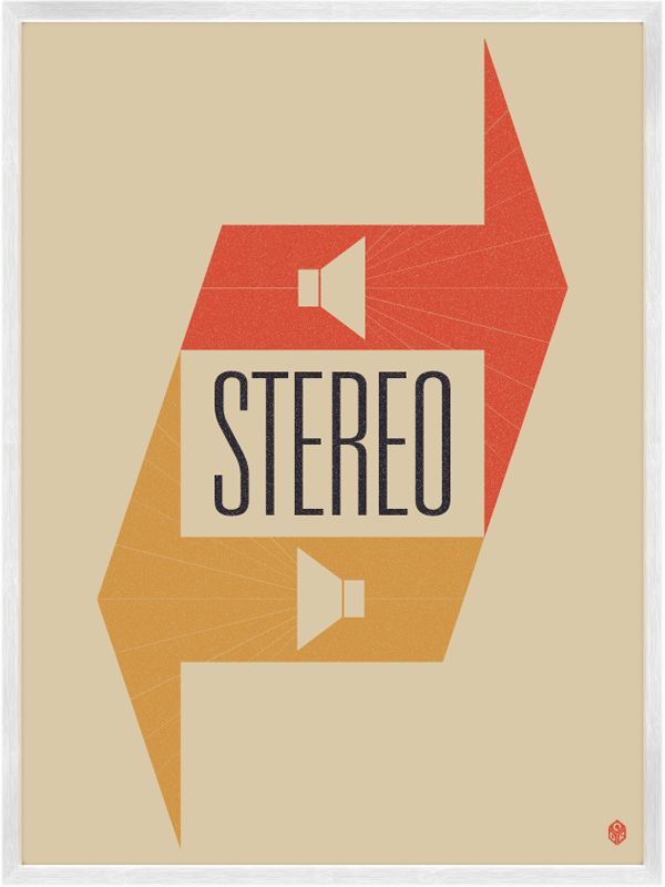 stereo. | Typography inspiration | Creative poster design, Graphic design illustration, Graphic design typography