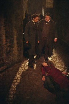 Johnny Depp and Robbie Coltrane in From Hell (2001)
