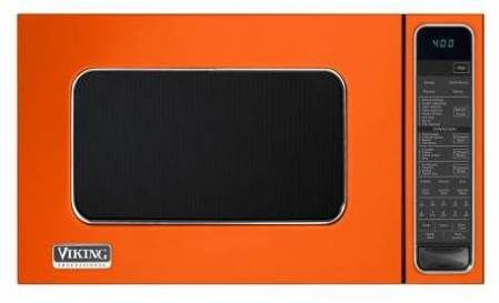 beautiful orange microwave- viking