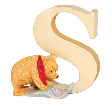 "The Letter ""S""~Winnie the Pooh Classic Alphabet Letters - Letter S Pooh"