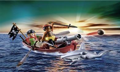 Playmobil Πειρατική Βάρκα Με Κουπιά Και Καρχαρίας (5137) 17,99
