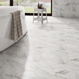 SomerTile 8.625x9.875-inch Marmol Hex Porcelain Floor and Wall Tile (Case of 25) - 18763447 - Overstock.com Shopping - Big Discounts on Somertile Floor Tiles