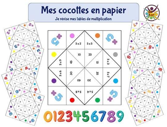 Jeux éducatifs à imprimer pour apprendre les tables de multiplicati… en 2020   Tables de ...