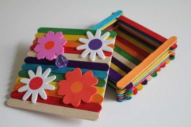 Manualiades Día de la Madre: fotos ideas preescolar - Caja de palitos de helado