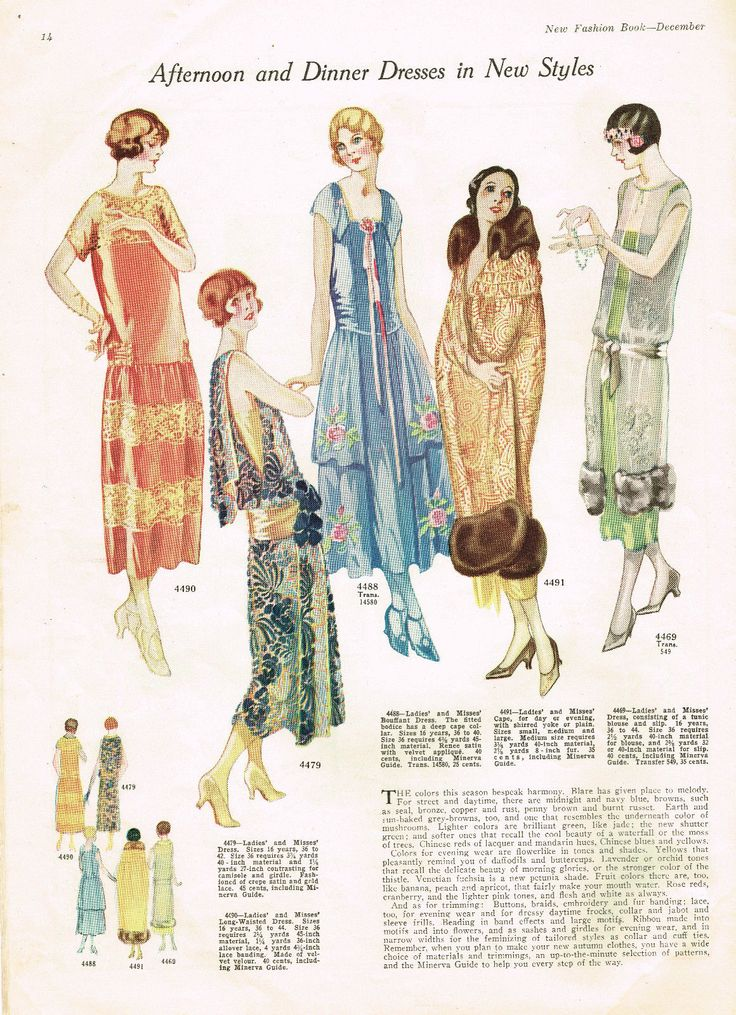 1920s Ladies Home Journal New Fashion Book 1924 Pattern