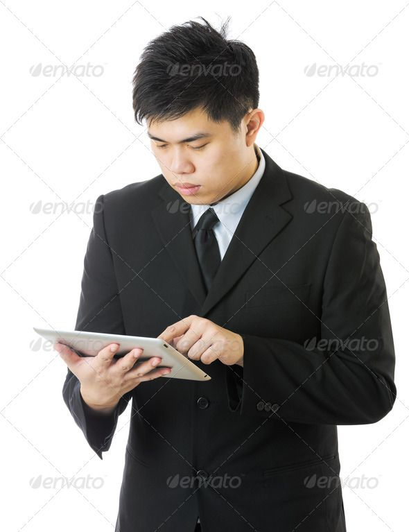 Business man using tablet ... asia, asian, banker, boss, boy, business, businessman, businessperson, chinese, computer, corporate, digital, entrepreneur, executive, formal, isolated, japanese, korean, male, man, manger, model, modern, one, person, portrait, professional, screen, single, smart, studio, success, suit, tablet, technology, touch, using, white, young