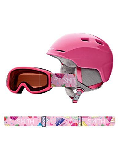 Smith Optics Unisex Youth Zoom Jr with Gambler Combo Snow Sports Helmet - Bright Pink Youth Medium (53-58CM) Read more  at the image link.