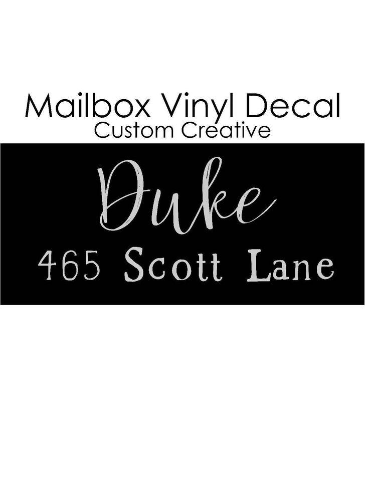 Custom Mailbox Decal by callmemrscrafty on Etsy