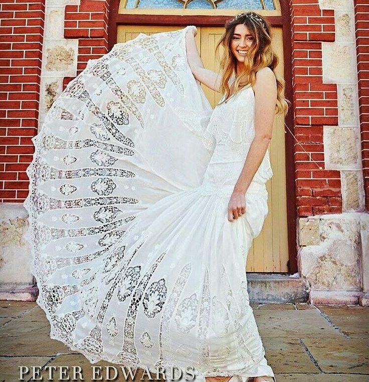 Lisa bride in her Eve gown by Rue De Seine