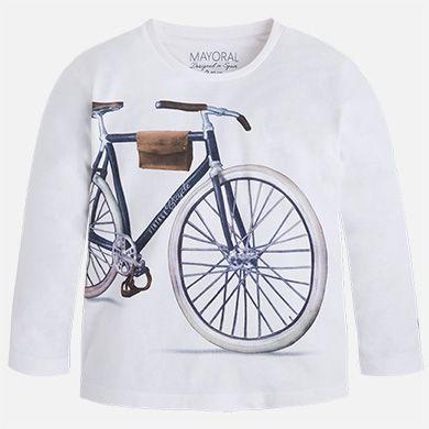 Maglietta manica lunga con stampa bicicletta