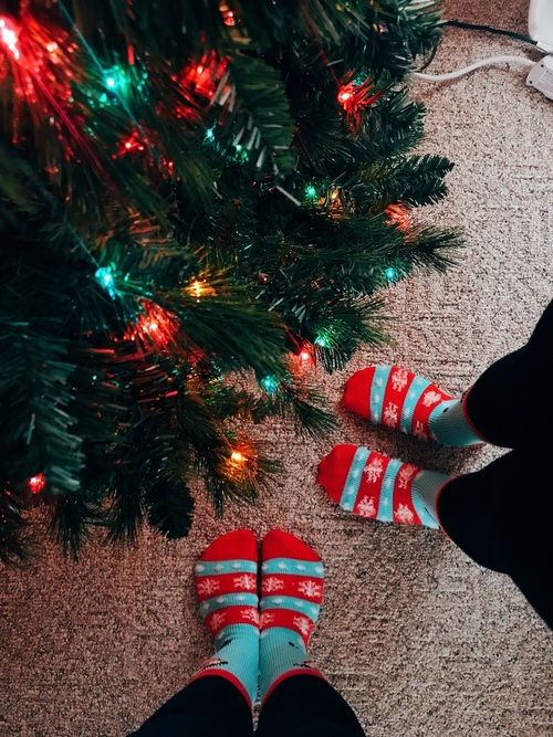 Christmas socks❤️☃️ discovered by hannah on We Heart It