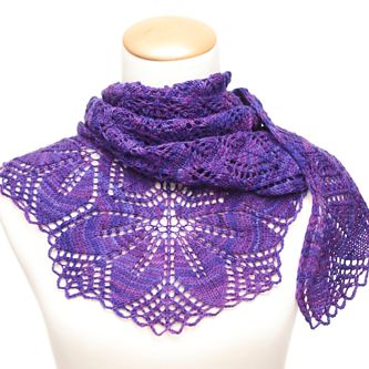 Looking for a shawl to accessorize? Look no further than Haruni--quite possibly THE free shawl to knit.