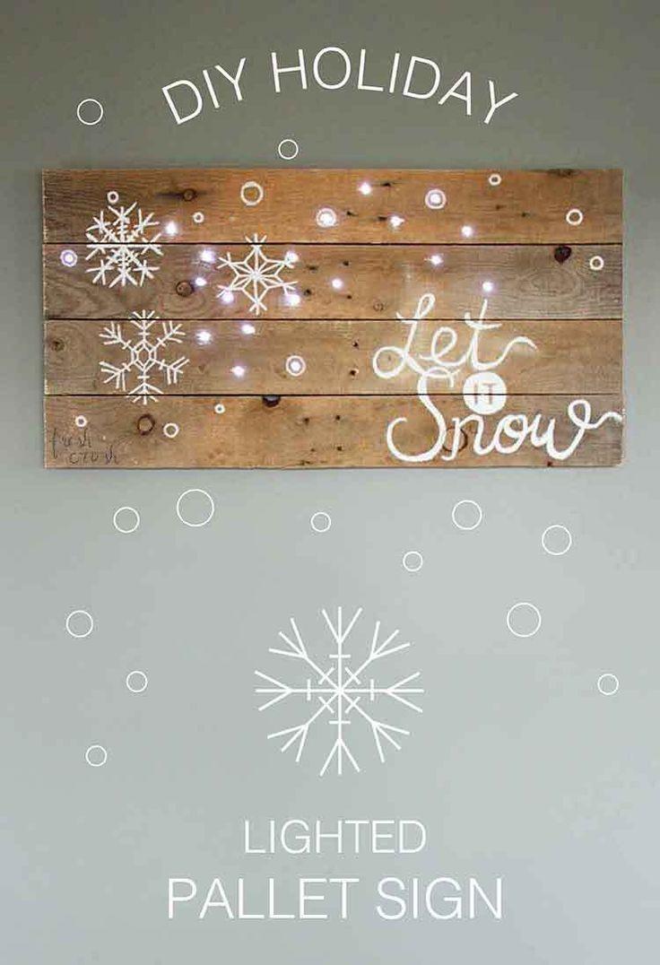 Sehen Sie, wie dieser Blogger ein EINFACHES handgemachtes beleuchtetes Palettenschild für den Feiertag erstellt …   – christmas wreath