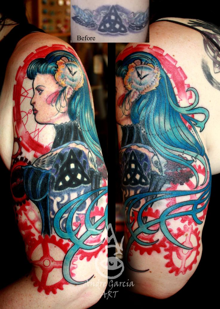 Tattoo By Andre Garcia of Side Show Studios in Sacramento, Ca