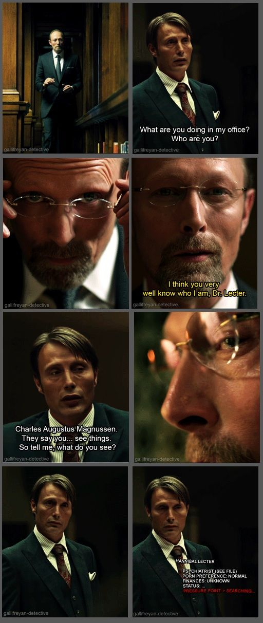 I love it mainly because they're brothers and these are two of my favorite shows! :)) // Hannibal/Sherlock cross-over