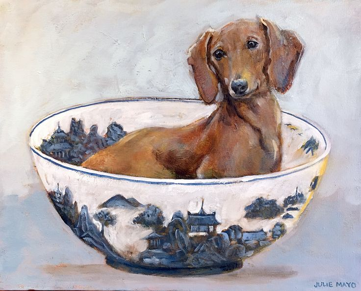 'Daxie in a Bowl' - Oil on canvas - AVAILABLE