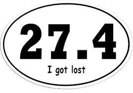 @Amanda Farris : I laughed out loud when I saw this because I thought it would be perfect for Eric! Good thing he didn't get lost during the marathon or this would be him! ;)