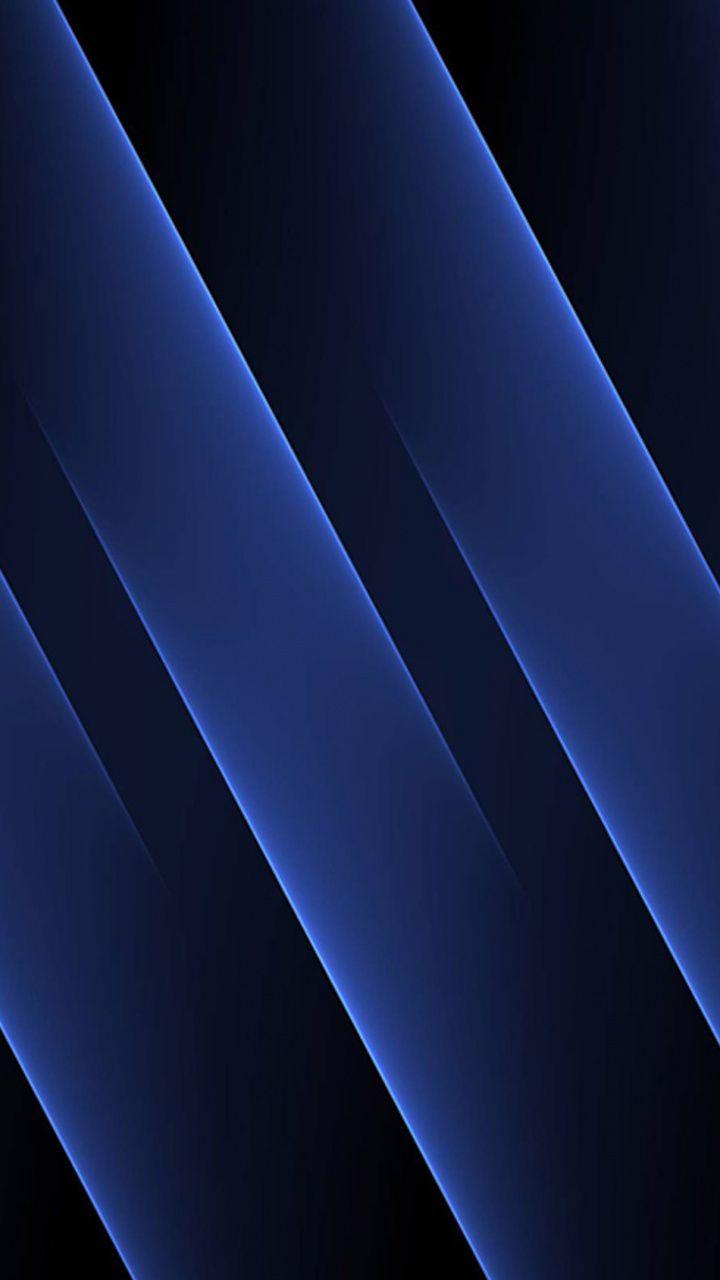 Abstract, blue stripes, dark, 720x1280 wallpaper Blue