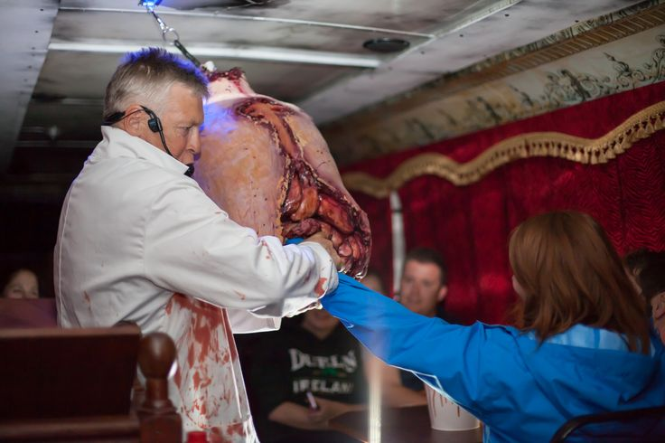 The Ghostbus is all about getting stuck in. And just like Dr. Clossey taught his students, you will learn how to extract the entrails of a corpse whilst on tour.