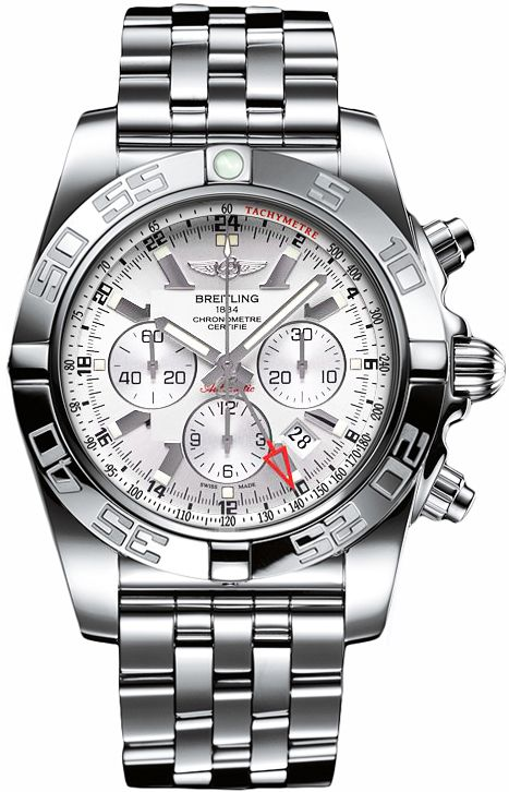 Breitling Windrider Chronomat GMT Auto Men Silver Dial Steel Watch AB041012/G719 Guaranteed Authentic