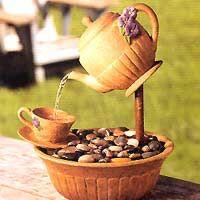 Inspirações do Ser: CHÁVENAS...CHICARAS...BULES...JARROS...Enfim, quem disse que estes utensílios são só para bebericar Café...Chá...?