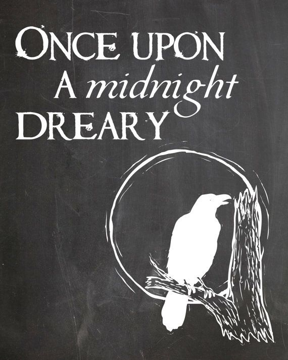 "Halloween Edgar Allan Poe ""The Raven"" inspired print"