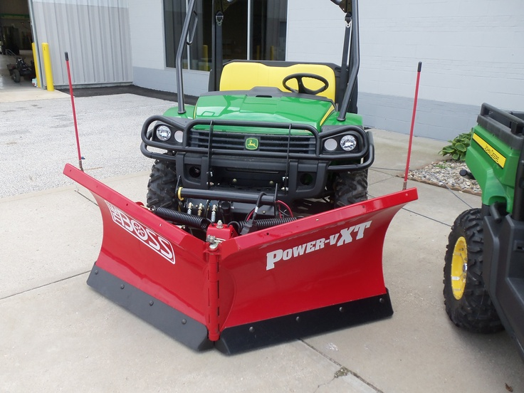 825i Gator With Red Boss Snowplow Snow Plow Lawn Care