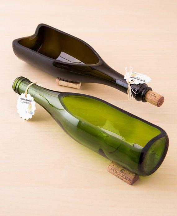 Wine Bottle Planter / Wine Bottle Decor / by LookingSharpCactus
