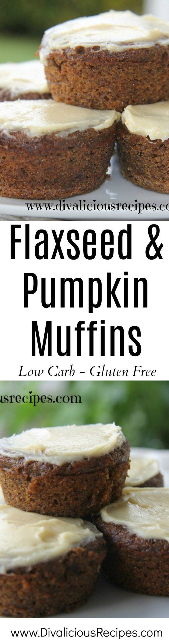 Flaxseed pumpkin muffins make a healthy breakfast or a snack on the go. Low carb and gluten free these are a great way to start the day.