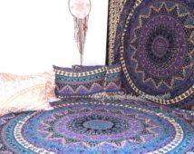 Mandala tapestry gooien, tapijt Picknickkleed mandala muur tapijt, yoga deken, Indiase mandala, boho strand gooien, boho deken, strand