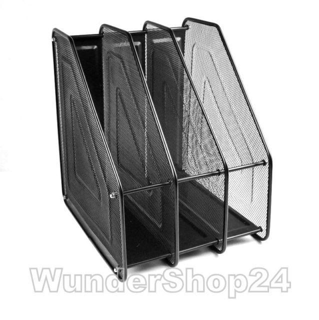 Perfect Metall Ablagen Sortierstation Ablagesystem Stehsammler Ordner f r Schreibtisch eBay