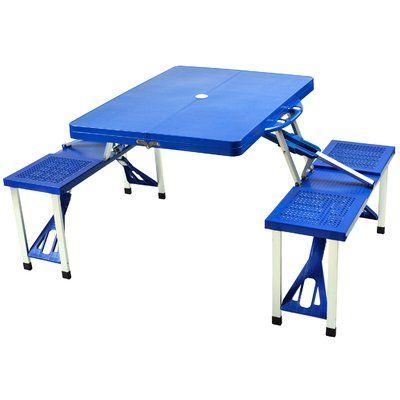 Picnic at Ascot Foldable Picnic Table Finish: Blue