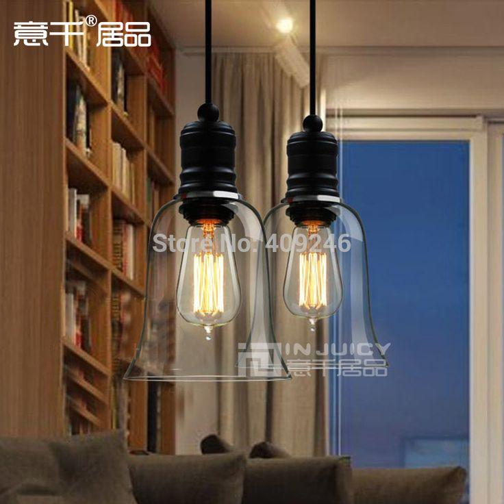 Эдисон Vintage Style Ясно Стекло Колокол Подвесные Потолочные Лампы