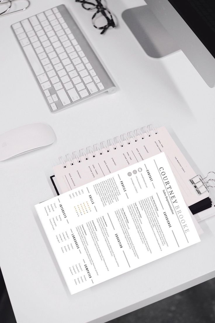 Modern resume optimized 1 page resume clean resume