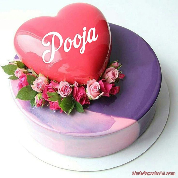 Romantic Fresh Flower Birthday Cake With Name Edit in 2020