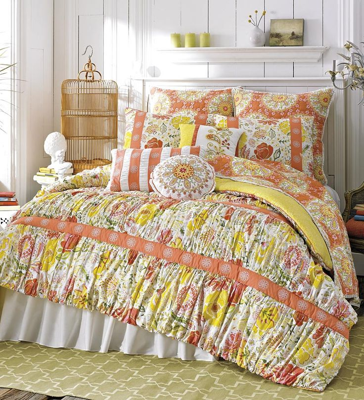 Meadow Cotton Reversible Print King Quilt