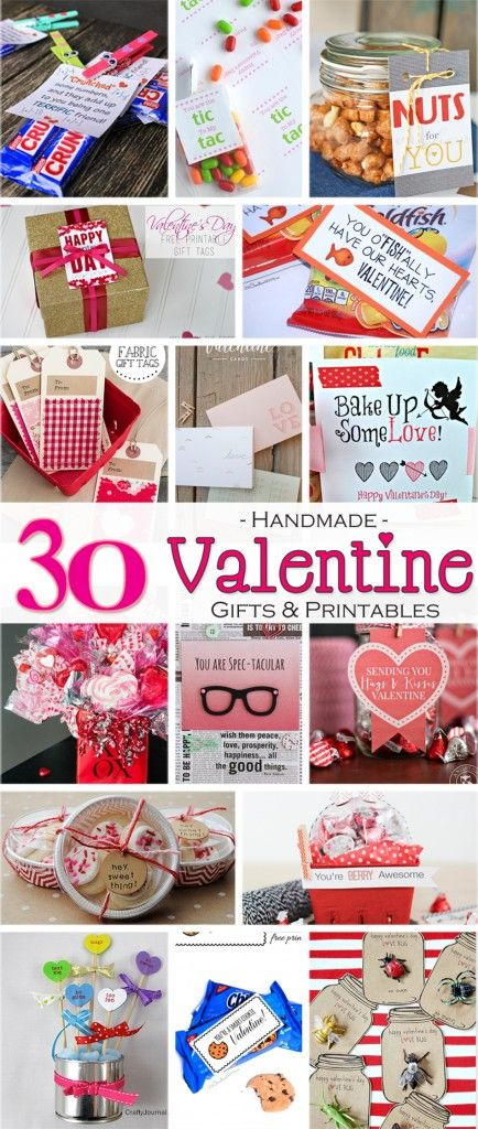 30 Handmade Valentine Gift Ideas & Free Printables, Valentine Gift Ideas, free printables, easy homemade gifts, homemade valentines, printable valentines