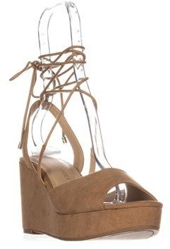 Chinese Laundry Cindy Platform Lace Up Sandals, Camel.