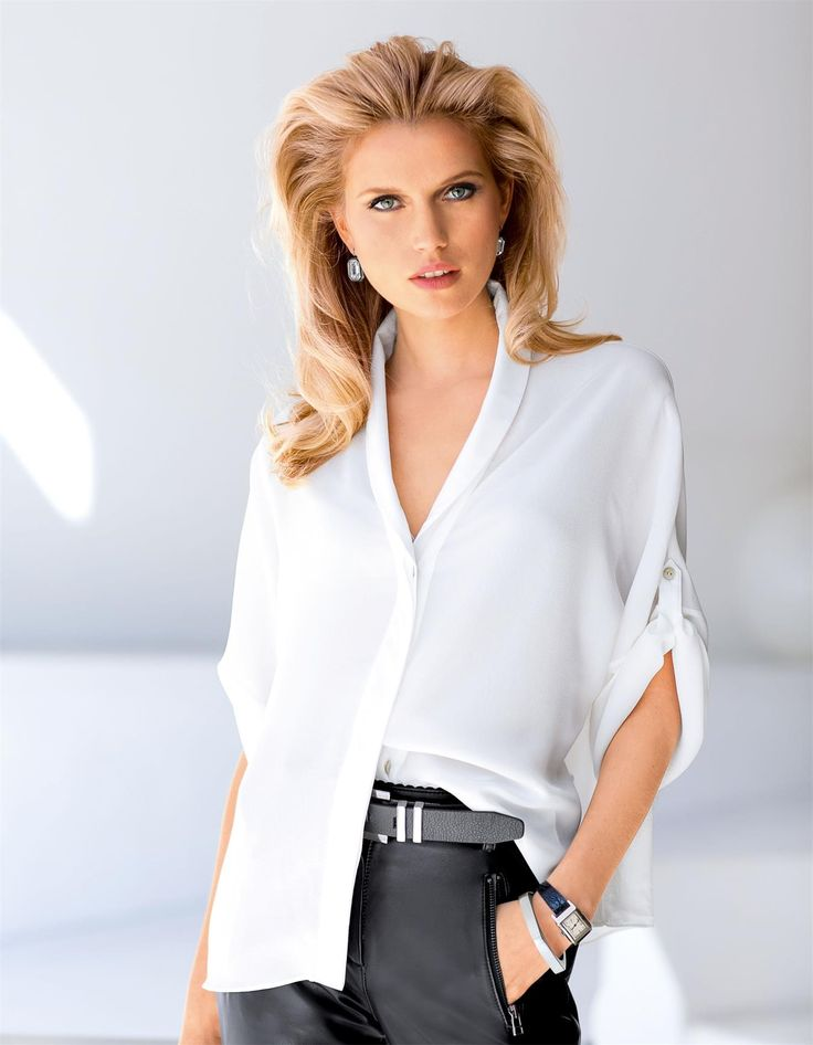 Seidenbluse im Kimono-Stil in der Farbe weiß - im MADELEINE Mode Onlineshop