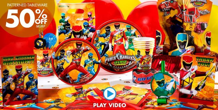 Power Rangers Party Supplies – Click to watch video