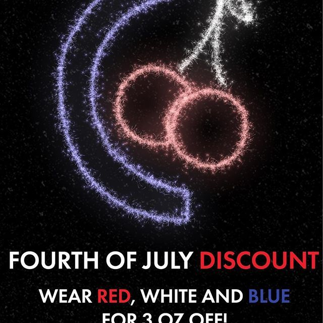 Don't forget about our deal today! We close early, so rock your red, white and blue before 6:30! ❤️🍦💙 #froyo #frozenyogurt #yogurt #food #cherryberry #icecream #fruit #freshfruit #local #eatlocal #healthy #healthyfood #july4th #fourthofjuly #4thofjuly #discount #sale #redwhiteandblue